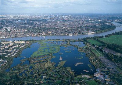 WWT London Wetland Centre aerial view - Berkeley Homes