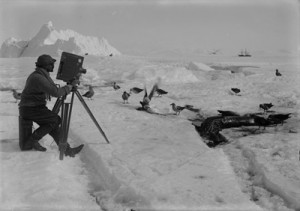 Scott's expedition in Antarctica.  Courtesy of the SPRI and Herbert Ponting.