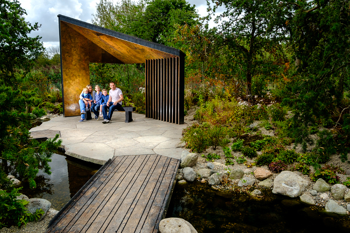 Tree-mendous garden that mimics the Canadian wilderness is unveiled