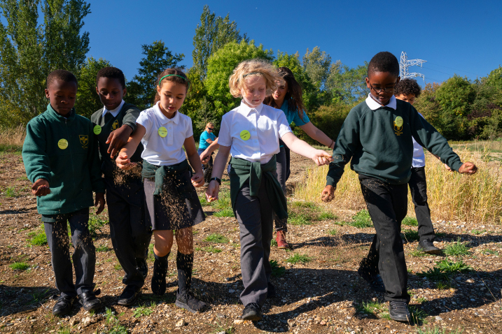 Enfield schoolchildren see designs for new wetland nature reserve become reality