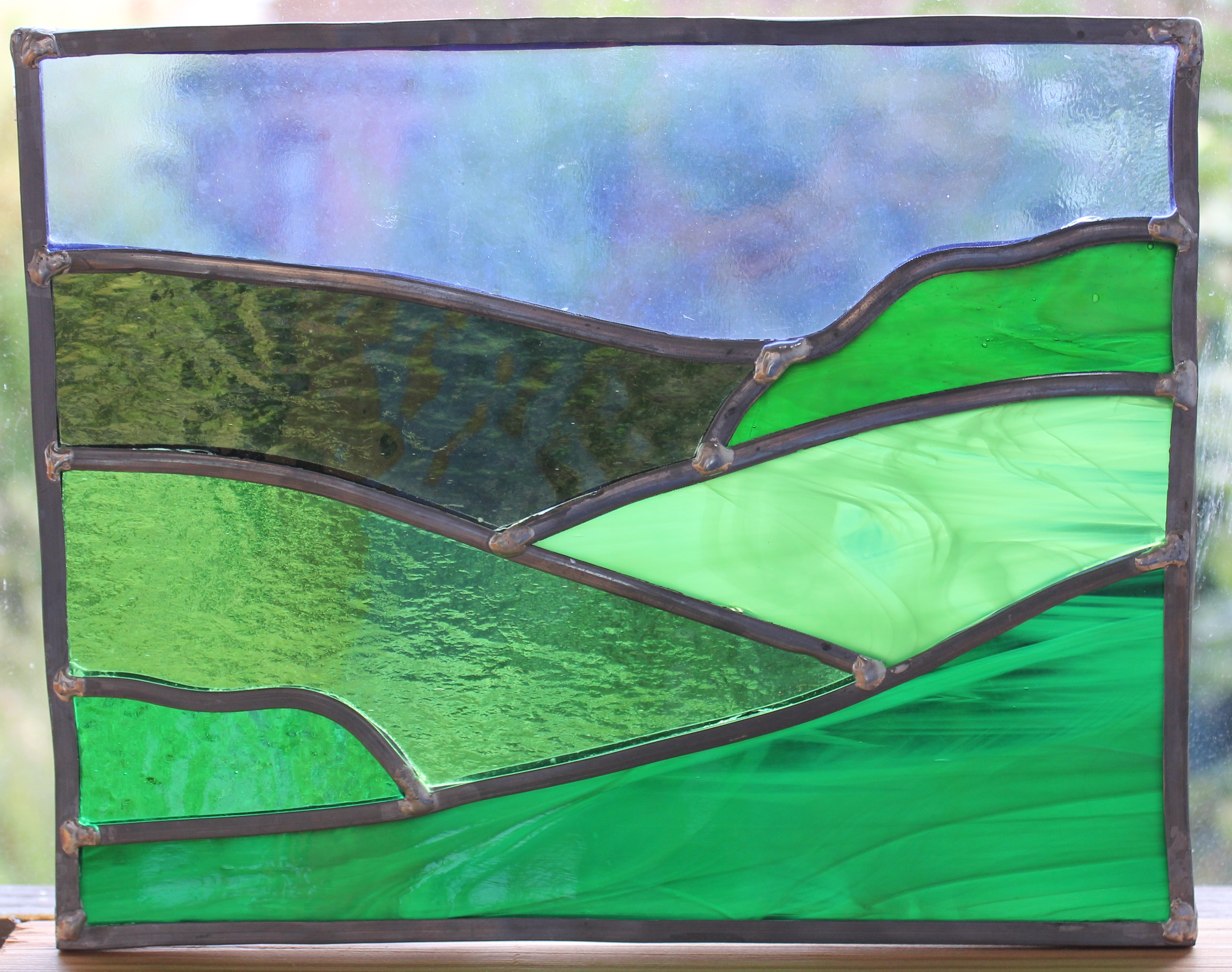 Stained Glass Wetland Landscapes