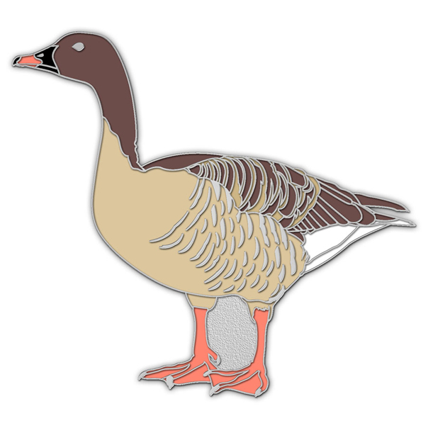 Pink-footed goose pin badge