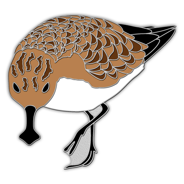 Spoon-billed sandpiper pin badge