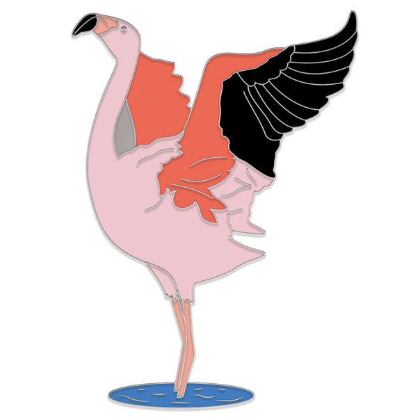 Chilean Flamingo Pin Badge