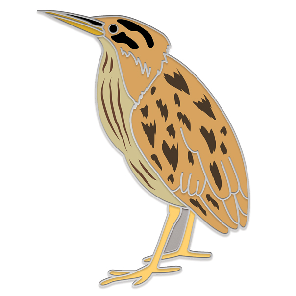 Bittern Pin Badge